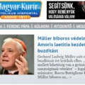 A Magyar Kurír, az Amoris Laetita és Müller bíboros. Kritika
