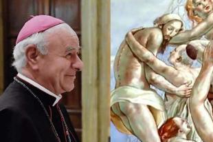 """Paglia érsek: A homoerotikus freskó az """"evangelizálás"""" eszköze"""