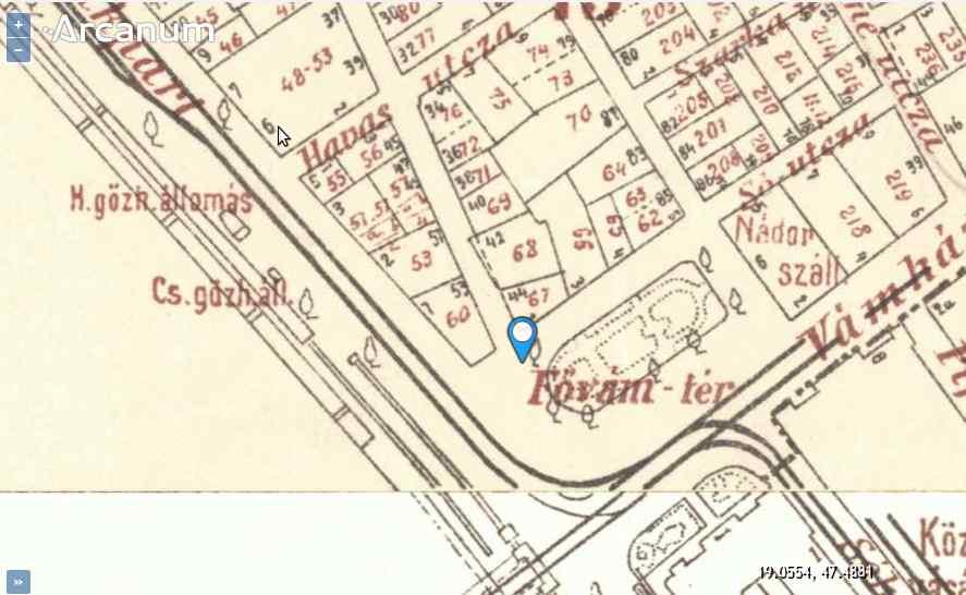 Pest térképe 1918 körül.<br />Forrás: mapire.eu