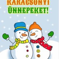 karácsonyi üdvözlőlapok készítése