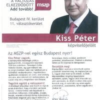 Kiss Péter a legszerényebb képviselőjelölt