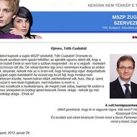 Huss, bátran eltűnt a zuglói MSZP-elnök