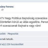 Az év meglepetése: Gyurcsány nyerte az ATV Nagy Politikus Bajnokságát