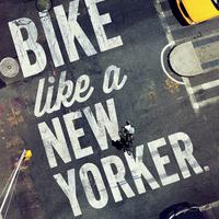 Óriás reklámokkal propagálják New York bringásítását