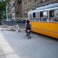 Egy év szünet után bukkantak fel a munkások Bem rakparti bringaúton