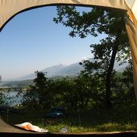 Reggel a Debari-tó mellett