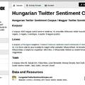 Magyar Twitter Szentiment Korpusz