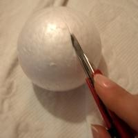 Kék-fehér, újféle technikával készült articsóka