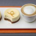Narancsos sajttorta és Cappuccino