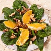 Narancsos spenótsaláta