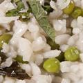 Zöldborsós rizottó friss mentával
