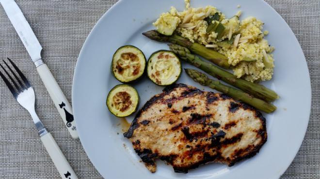 Gyors ebéd, párolva-grillezve
