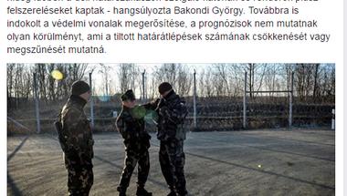 Egy tömbbe fagyasztotta a katonákat, a rendőröket és a menekülteket a kormány a déli határnál