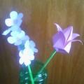 virág ágacska és tulipán
