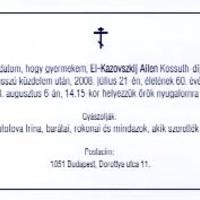 Párkák Háza, El Kazovszkijnak ajánlom