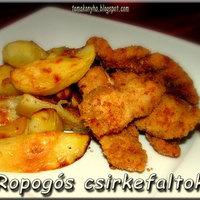 Ropogós csirke/pulykafalatok sült krumplival