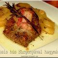 Nosztalgikus ízek - Tepsis hús hagymával, burgonyával