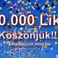 Facebook oldalunk elérte a 10000 Lájkot!!! :)