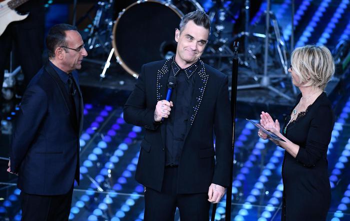 Robbie Williamsnek már ismerős Sanremo, hiszen korábban is járt már a fesztiválon.