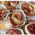 Anyák napi rózsacsokor almából