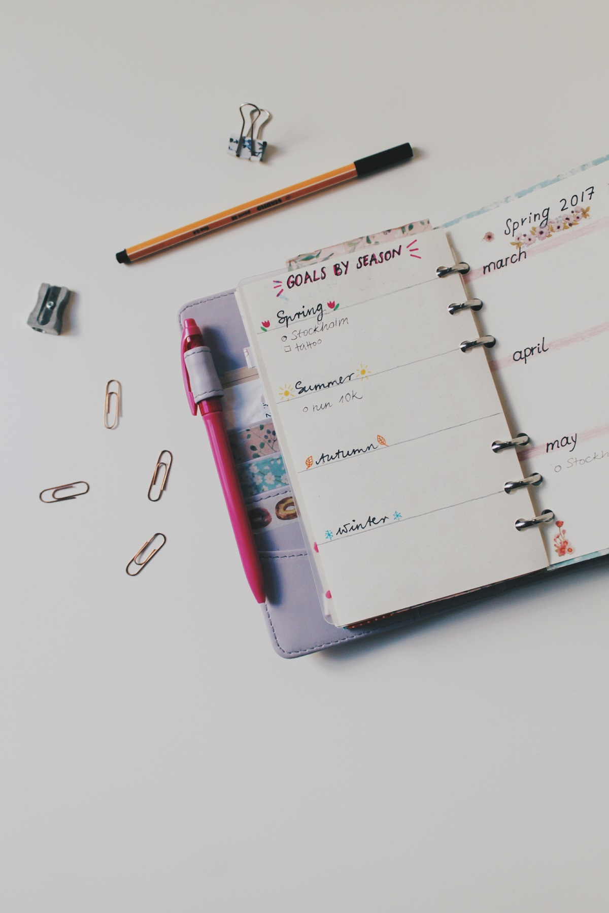 kittenish bullet journal 2017