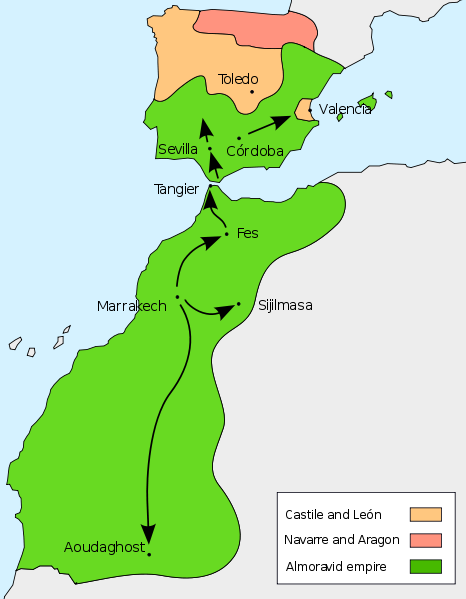 Almoravida dinasztia területe