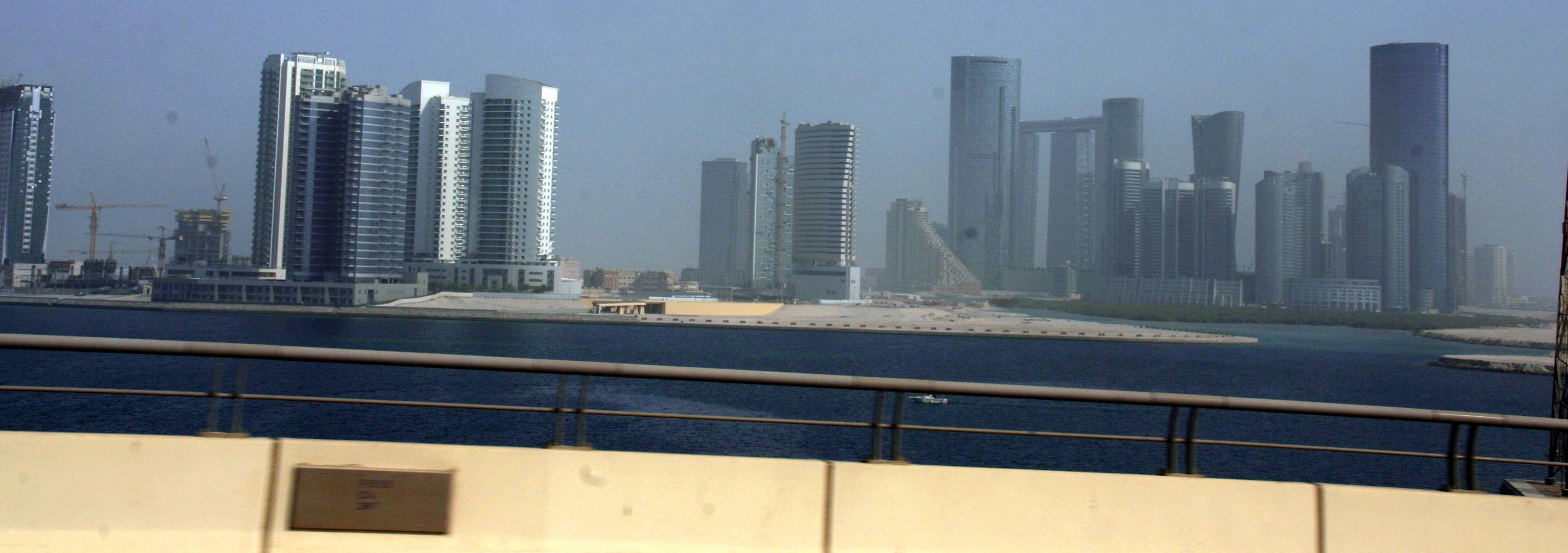 Abu Dhabi emirátus - épülő új városnegyed az al Reem-szigeten