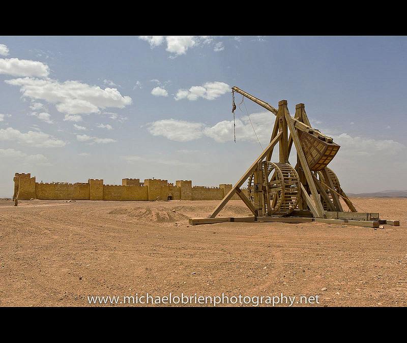 A mennyei királyság c. film díszelete.<br />Ahogy a Jézus filmek esetében, úgy a Mennyei királyságban szereplő Jeruzsálem is valójában Marokkóban van.