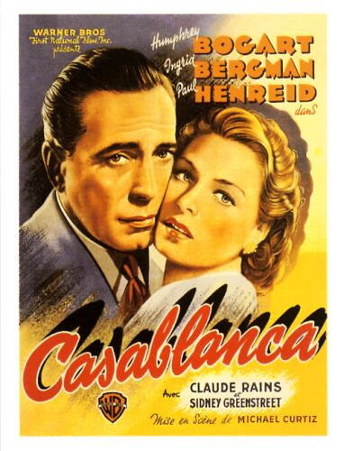 A Casablanca c. film korabeli plakátja