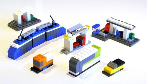 Microbricks Public Transport Station