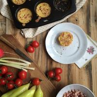 Tojásmentes omlett muffin