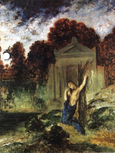 Gustave_Moreau_Orfeusz Euridiké sírján