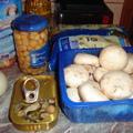 Kagylós-gombás-csicseriborsós tészta sajtszósszal