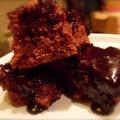 Epres-csilis mogyorós-csokis süti banánnal