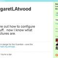 Margaret Atwood elkezdett Twitterezni