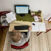 Így néz ki Takács Zsuzsa dolgozószobája