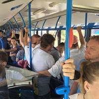 Ismét rosszul lett egy utas a reptéri expresszbuszon a zsúfoltság miatt