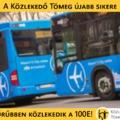 A Közlekedő Tömeg újabb sikere: sűrűbben közlekedik a 100E buszjárat!