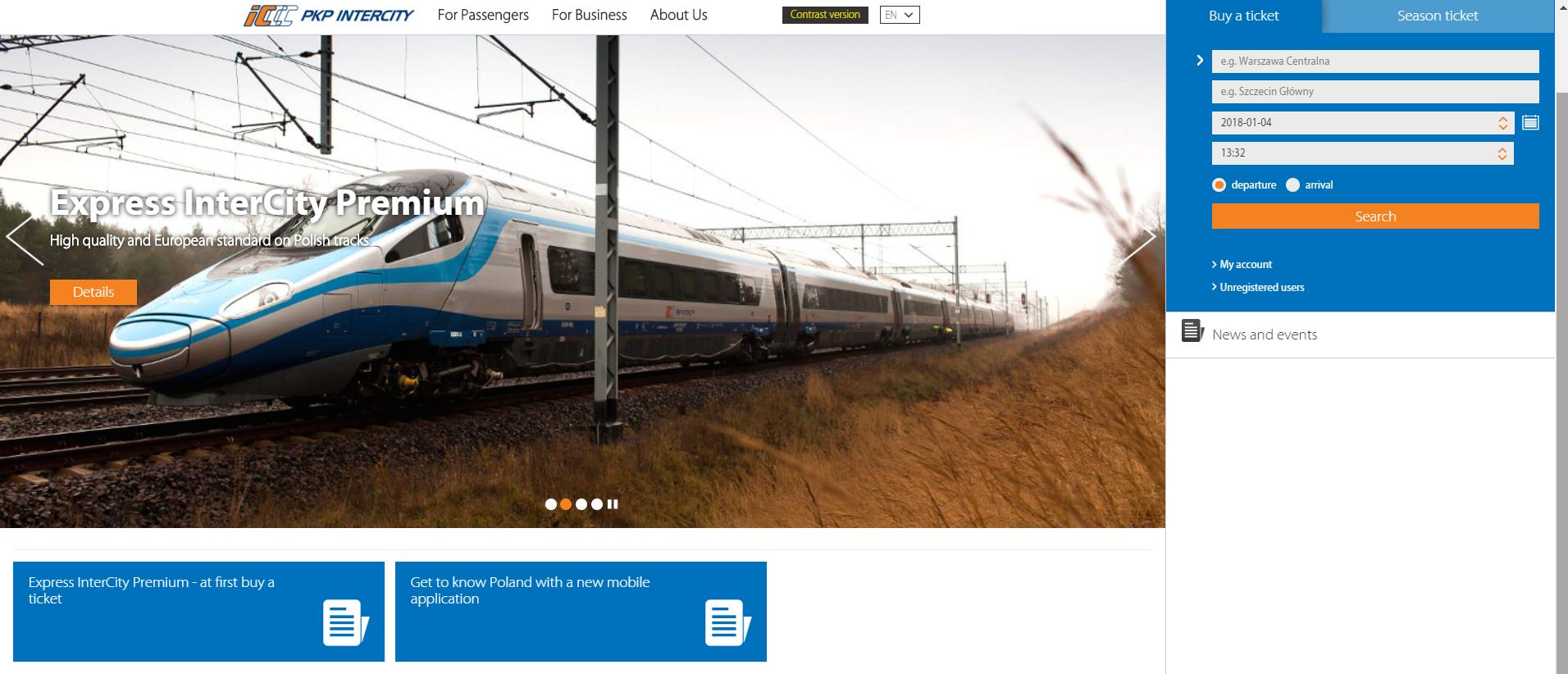 PKP Intercity, Lengyelország