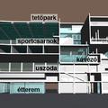 Belvárosi sportház (parkolóház mintára)