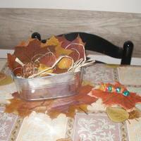 Őszi dekoráció só-liszt gyurmából