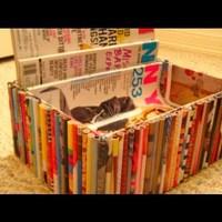 Használt magazinokból tároló doboz