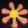 Horgolt virág 2