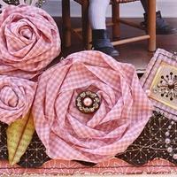 Rózsa készítése anyagból