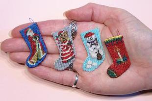 Karácsonyra miniatűr csizmák