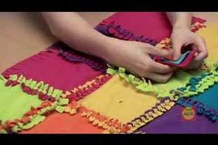 Varrás nélküli patchwork takaró készítése