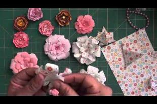 Papírból készült rózsa lépésről-lépésre