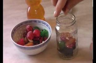 Ajándék mézes gyümölcs készítés