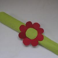 Virágos szalvétagyűrű