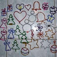 Karácsonyfadísz zseniliadrótból